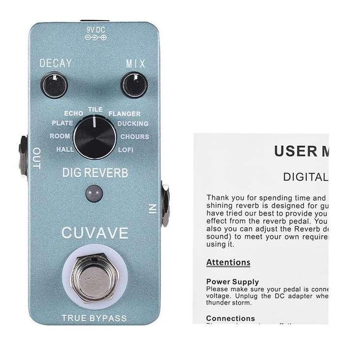 DIG Reverb CUVAVE Pedal de efecto de guitarra