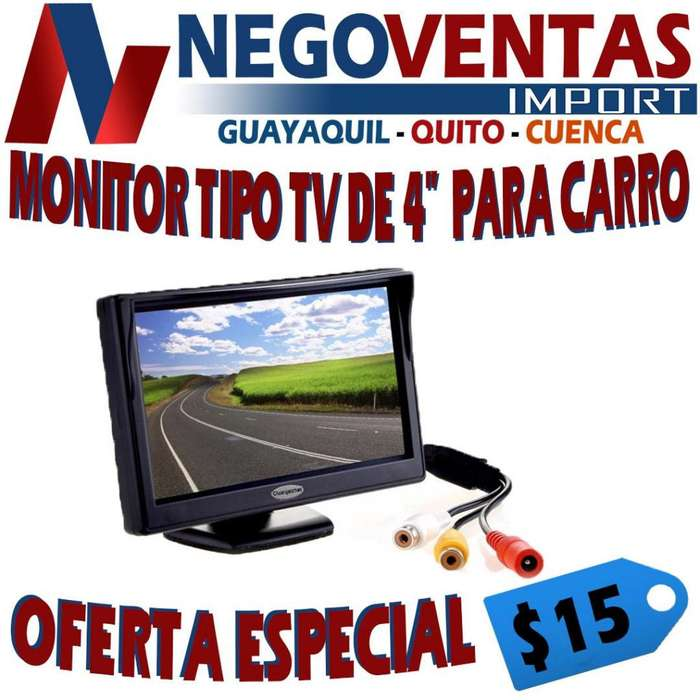 MONITOR TIPO TV DE 4 PULGADAS PARA CARRO