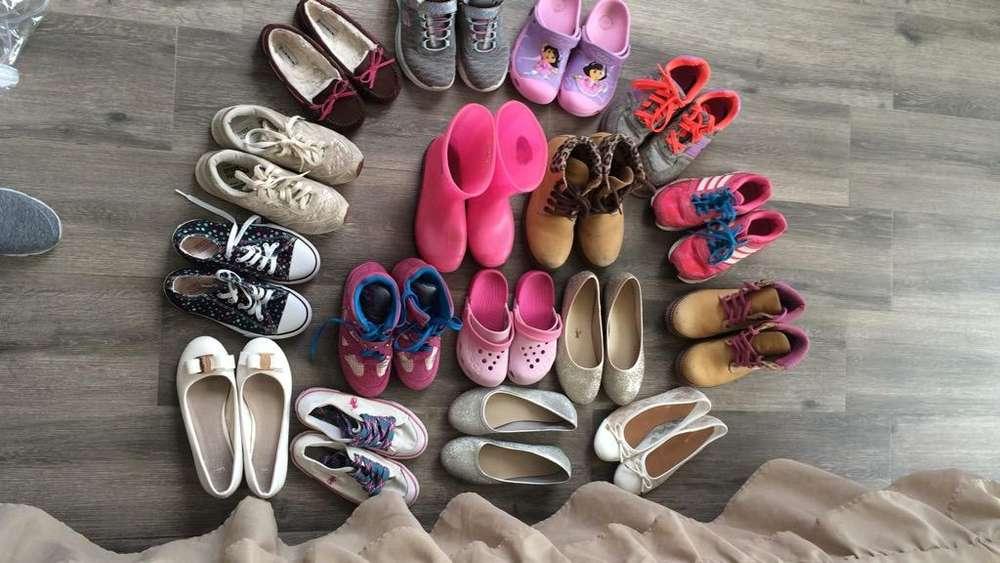 Lote de Zapatos de Niña Varias Tallas