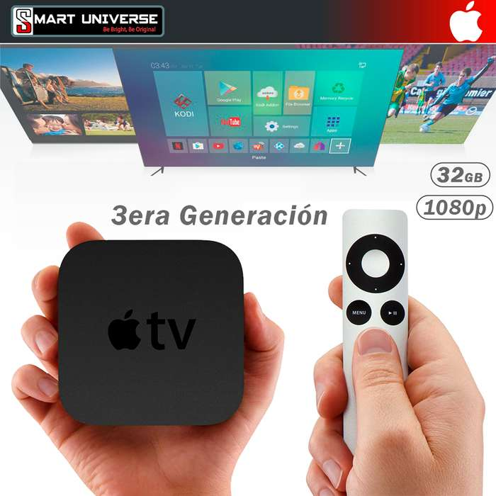 Apple TV 3era Generacion Original 32gb Wifi Sellados incluye iva