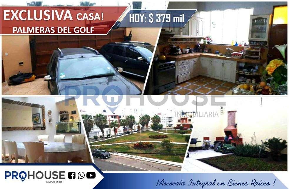 VENTA:CASA RESID. URB. EL GOLF AT. 223m2 / FRENTE A PARQUE
