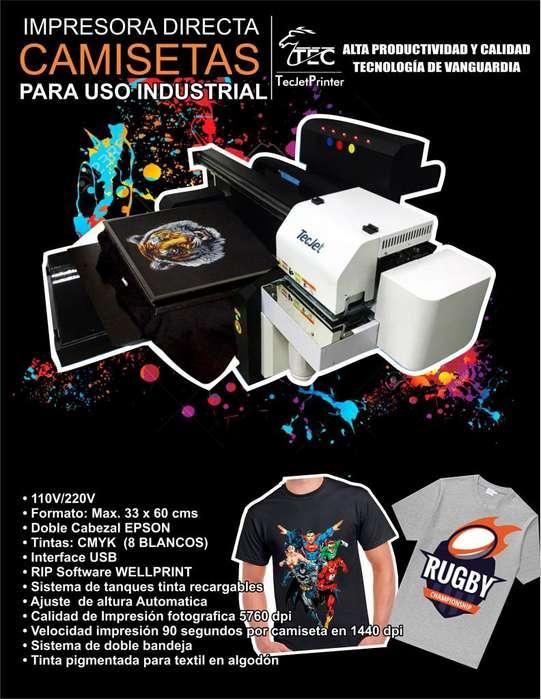 A DTG impresora directa camisetas para uso industrial