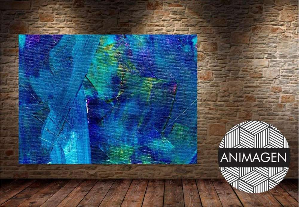 Cuadro decorativo en tonos azules 4357