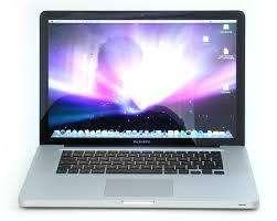 Mac Book Pro 15 pulgadas, 2,53 GHz Procesador Core 2 Dúo Velocidad de procesamiento 2.4ghz, Ram 2gb