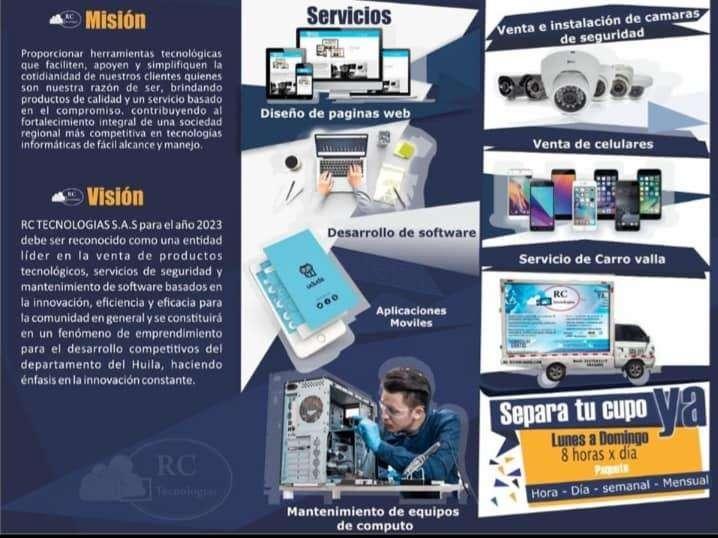 RC TECNOLOGÍAS S.A.S PRODUCTOS Y SERVICIOS TECNOLÓGICOS