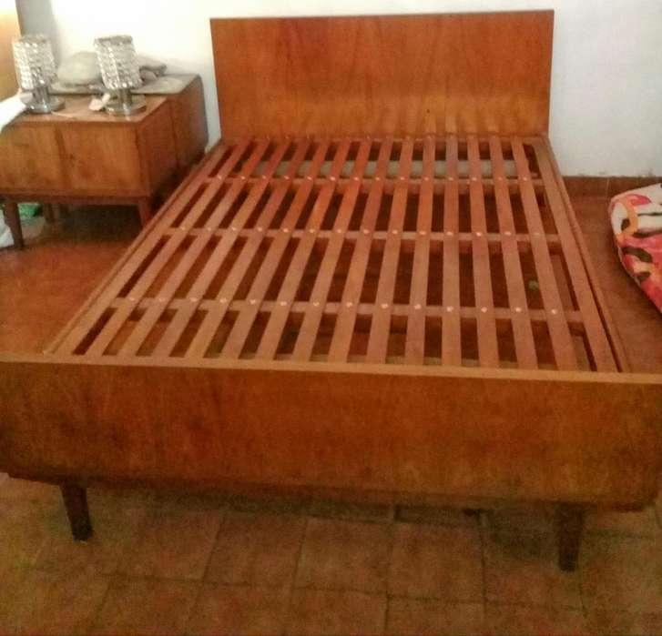 <strong>cama</strong> de 2 plazas retro estilo escandinavo