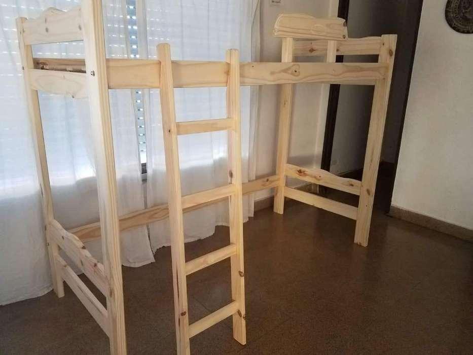 <strong>cama</strong> Puente de Pino para Adulto