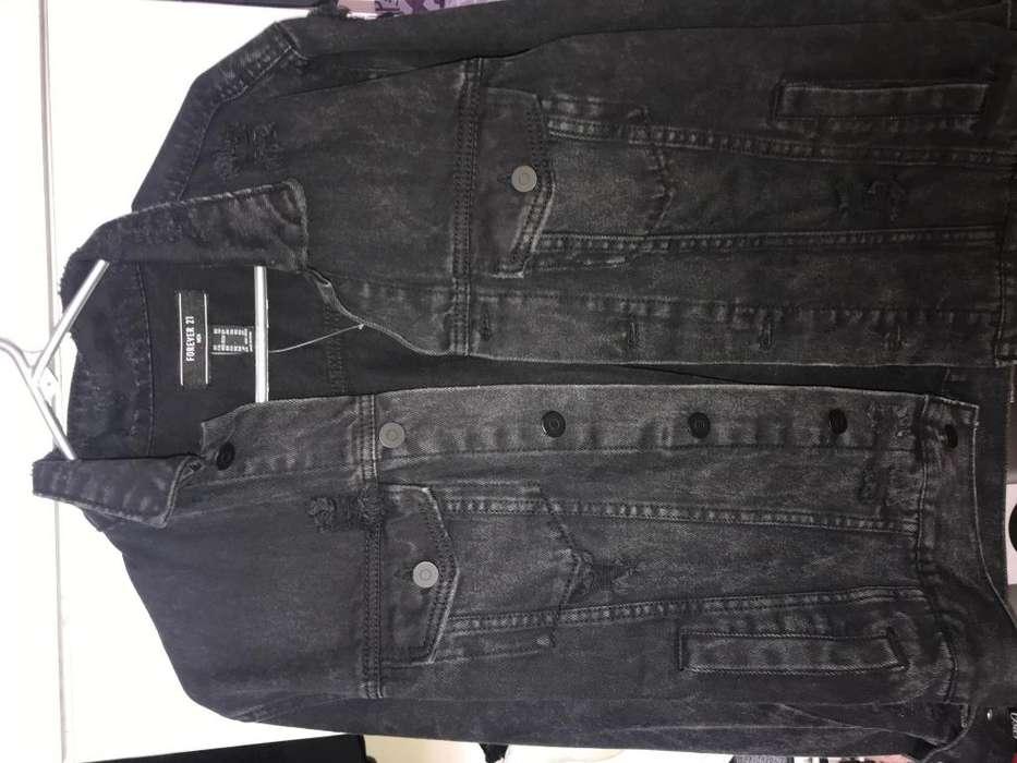 Chaqueta Negra Jean talla xs grande