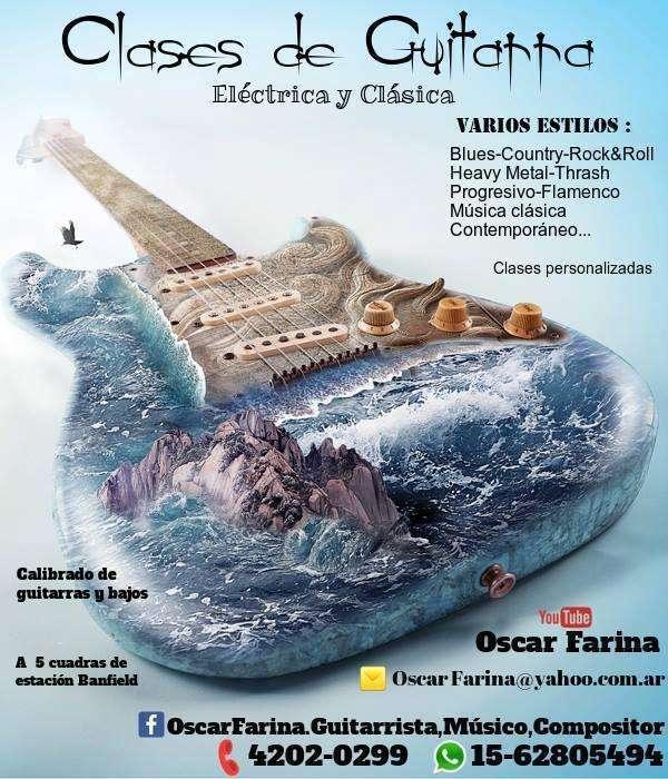 Clases de Guitarra Eléctrica y Clásica, zona sur
