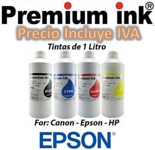 Litros De Tinta Kit 4 Colores Epson Canon Hp L4150, L3110, L4160, L380, L375, L395, L575 PRECIO INCLUYE IVA