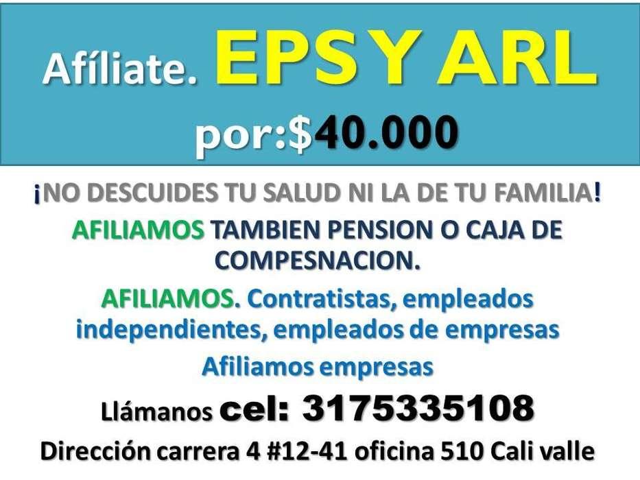 SEGURIDAD SOCIAL EPS Y ARL 40.000