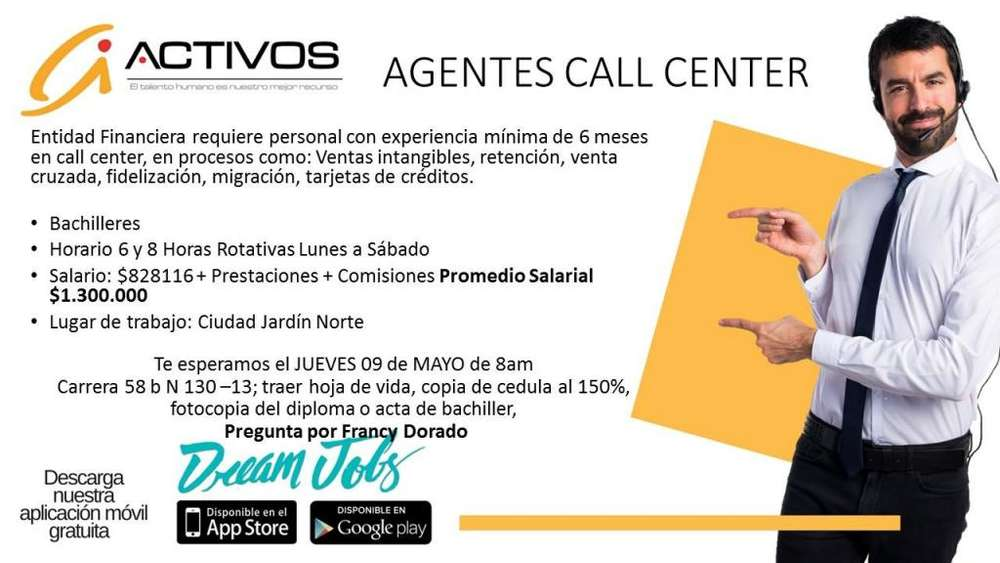 asesor financiero call center