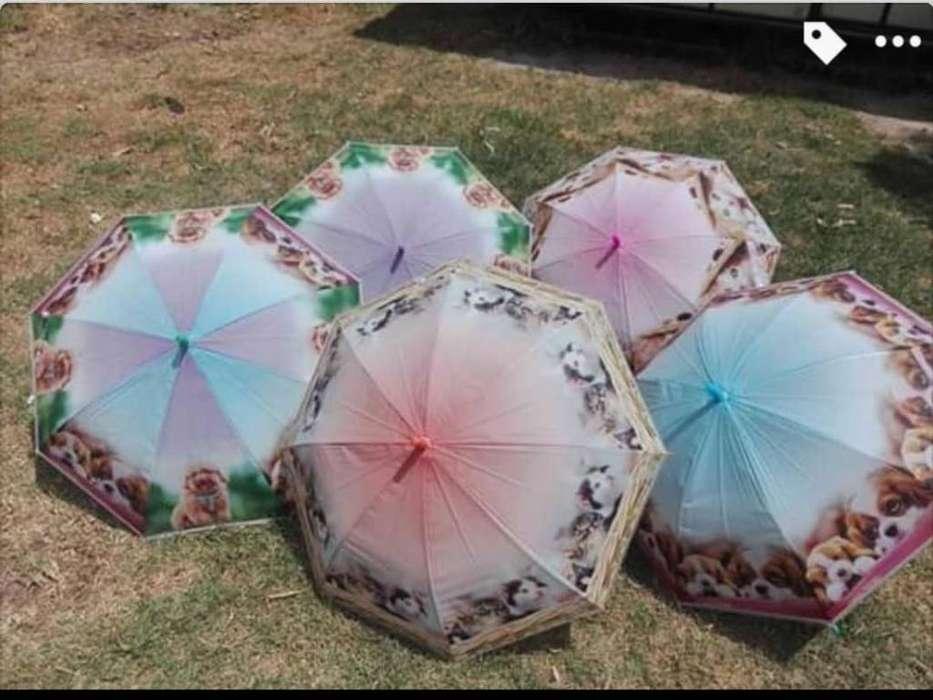Paraguas con Diseños de Gatos Y Perros