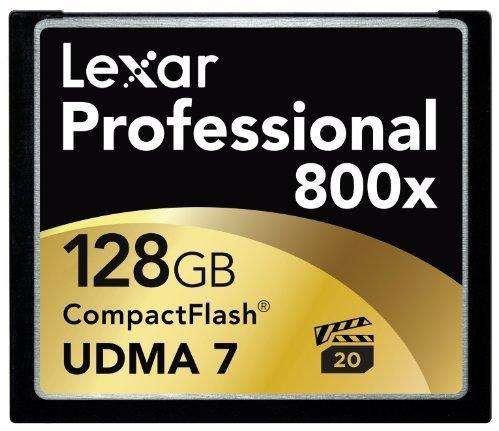 COMPACTFLASH LEXAR PROFESSIONAL 800X, 128GB