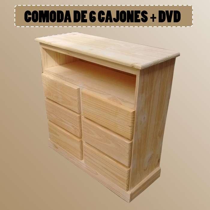 CAJONERA DE 6 CAJONES DVD