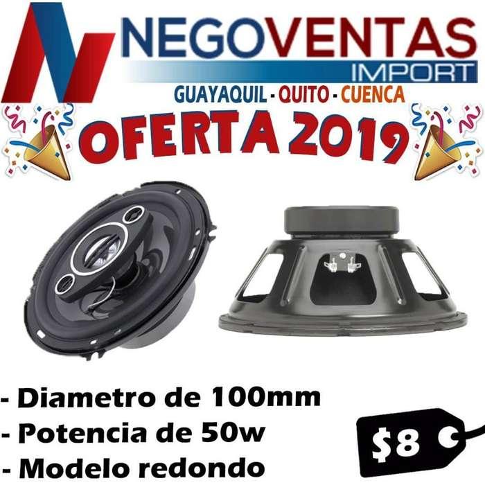 PARLANTES REDONDOS PARA CARRO 50 WATTS