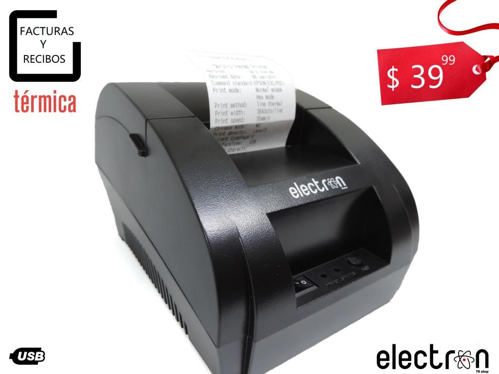 Impresora Termica 58mm USB para FACTURAS Y RECIBOS