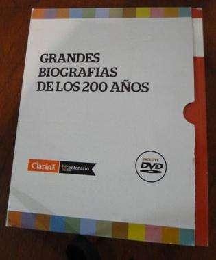 Grandes Biografías DE Los 200 años Clarín Colección Completa 12 Libros C/Dvds Y Caja en LA CUMBREPUNILLA