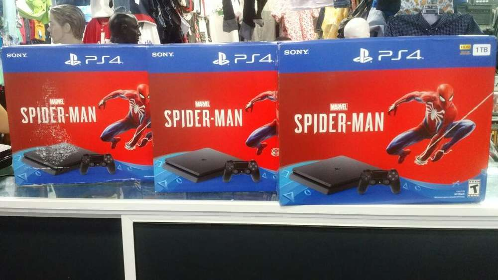Consola Ps4 Slim 1 Tera Spiderman Nueva
