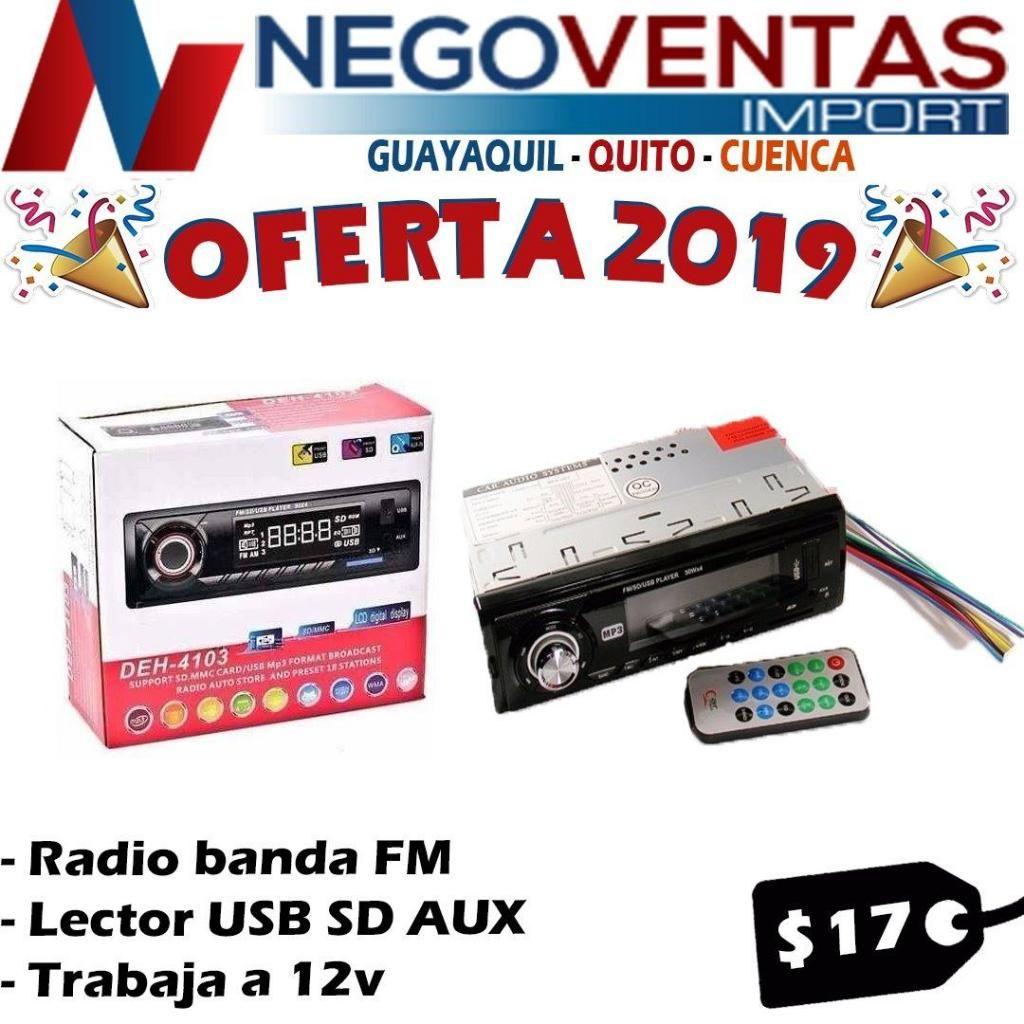 RADIO PARA CARRO USB SD AUX FM ECONOMICA