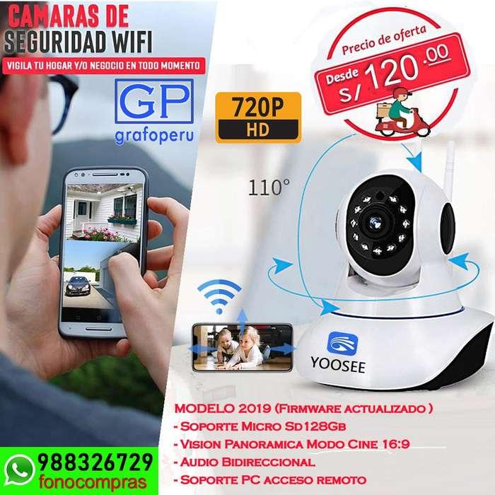 Camara Seguridad Robotica Vision Nocturna Wifi iP128gb 2019.