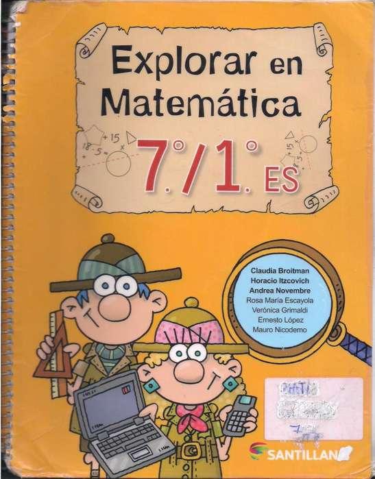 Explorar en Matemática 7/1. Santillana
