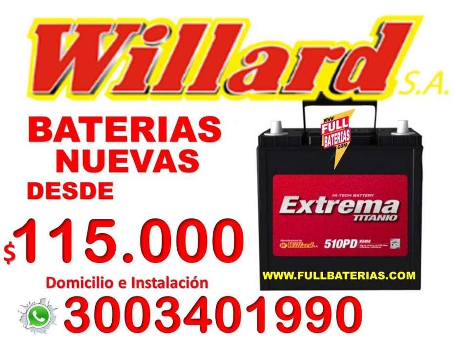 BATERIAS WILLARD GARANTÍA NUEVAS DESDE 115 REVISIÓN GRATIS