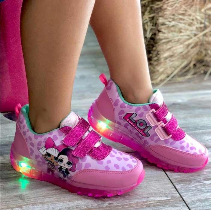 Zapatos con Suela de Luces para Niños