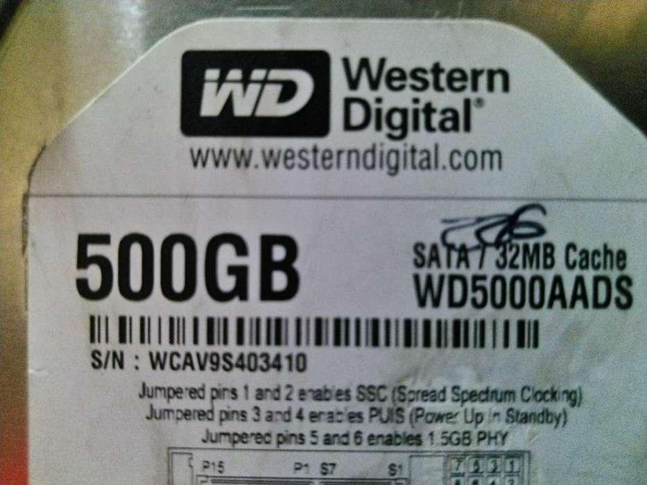 Disco Duro Wester Digital 500 Gb