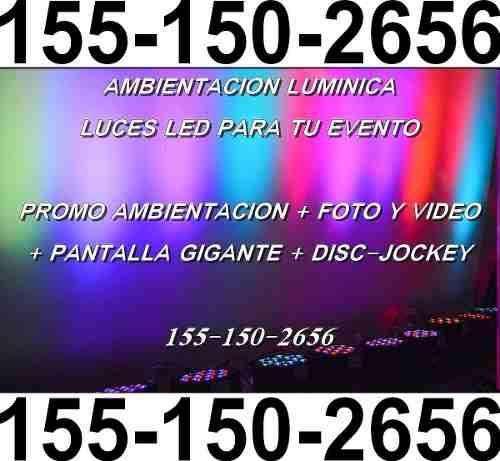 Ambientación Luces Luminica Fiesta Evento Quilmes Zonasur Dj 1562333305