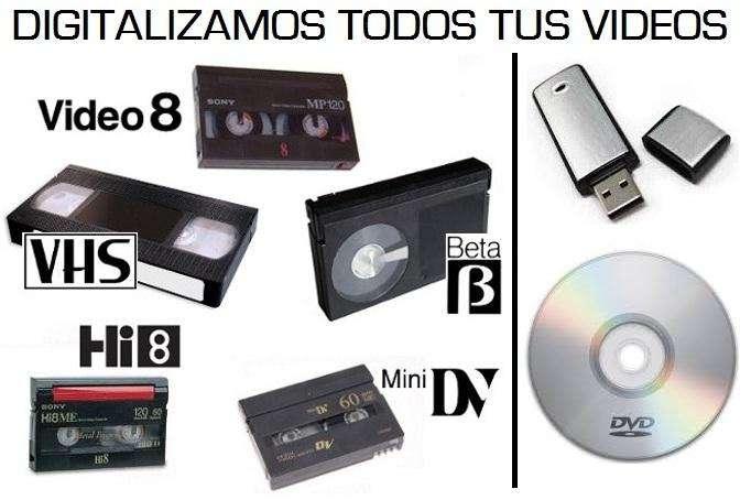 Se Transfieren Pasan Casetes Cintas De Betamax VHS Filmadora a DVD USB Grabacion Copiado De Discos DOMICILIOS