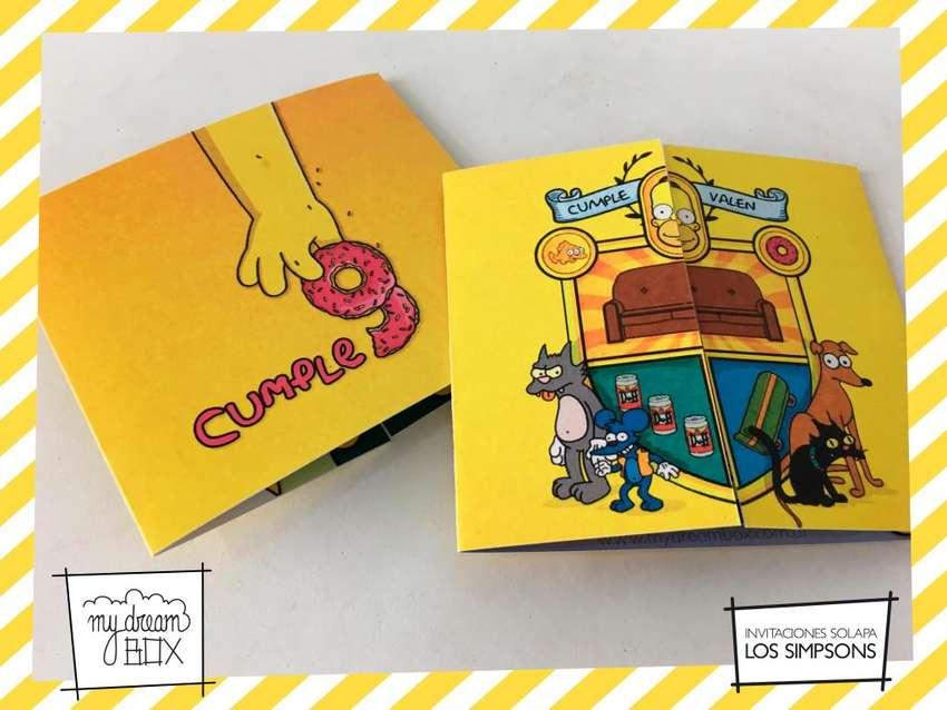 Souvenirs Tarjeta Infantil Los Simpsons Homero Personalizada