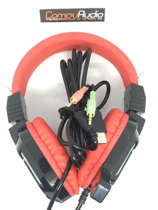 Diadema Gamer PRO 2 Plugs con vibracion y luz incorporada