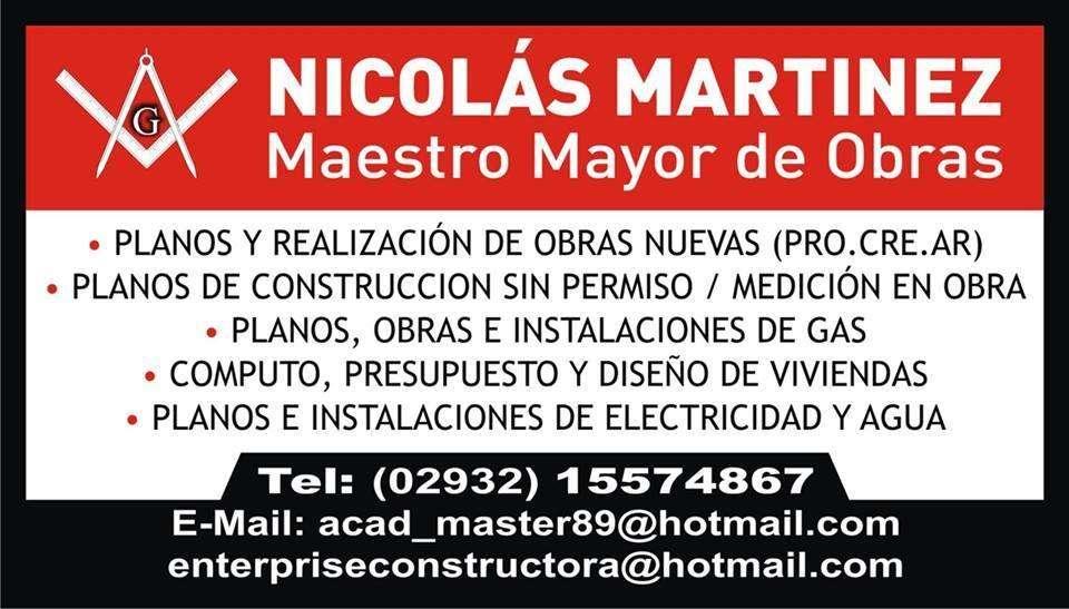 MAESTRO MAYOR DE OBRAS Planos sin permiso, obras nuevas, intalaciones