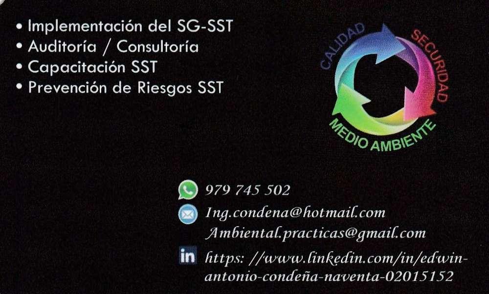 SERVICIO DE PREVENCION DE RIESGOS, PDR, SUPERVISOR DE SEGURIDAD, SSOMA, ING SSOMA, IMPLEMENTACION SST