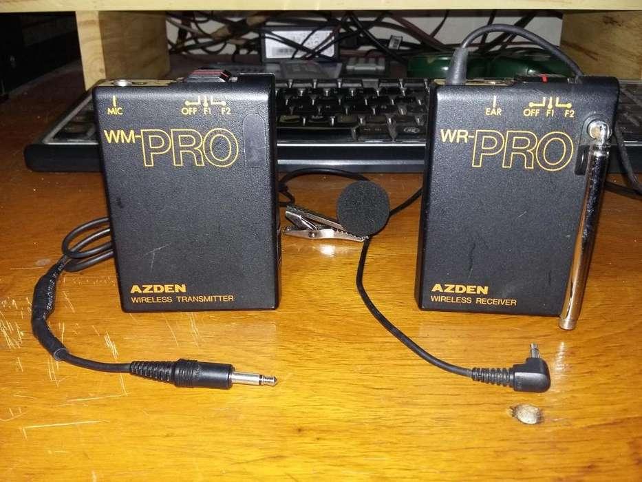 Micrófono inalambrico Azden WM - PRO
