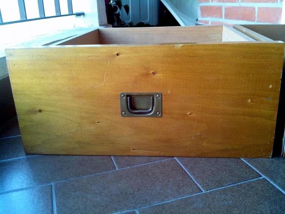 Cajón De Madera Grande Antiguo Mueble Con Manija