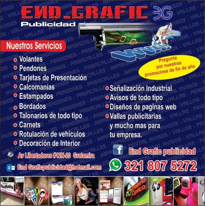 End Grafic Publicidad, Innovación a tu imagen.