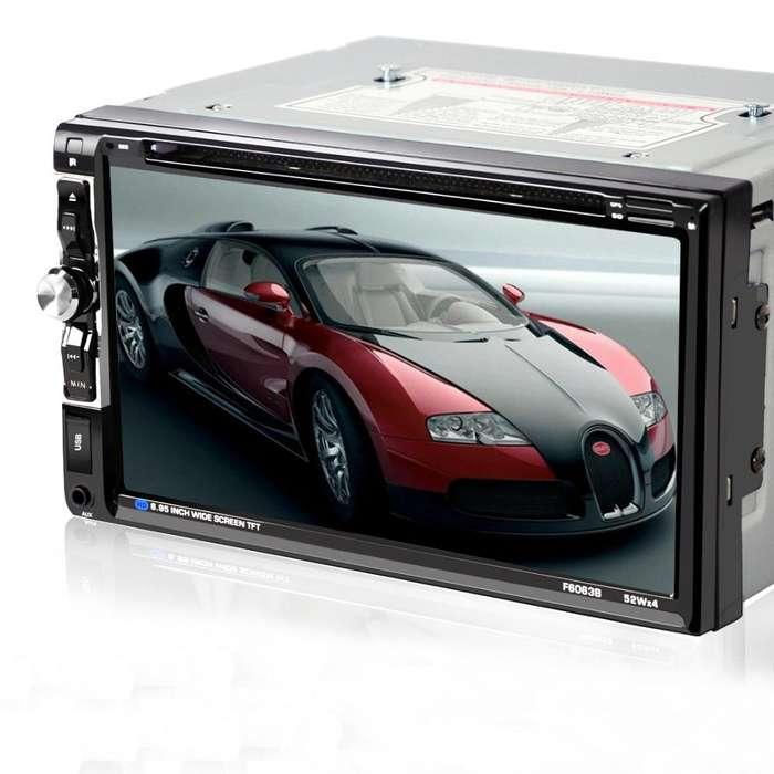 Radio de Auto con pantalla Doble Din Dvd Tv Bluetootl