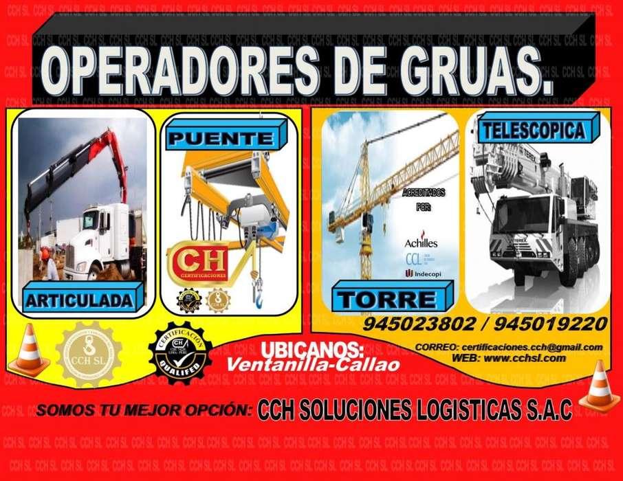CURSOS DE OPERADORES DE GRUA TELESCOPICA, ARTICULADA, TORRE, PUENTE Y CELOCIA