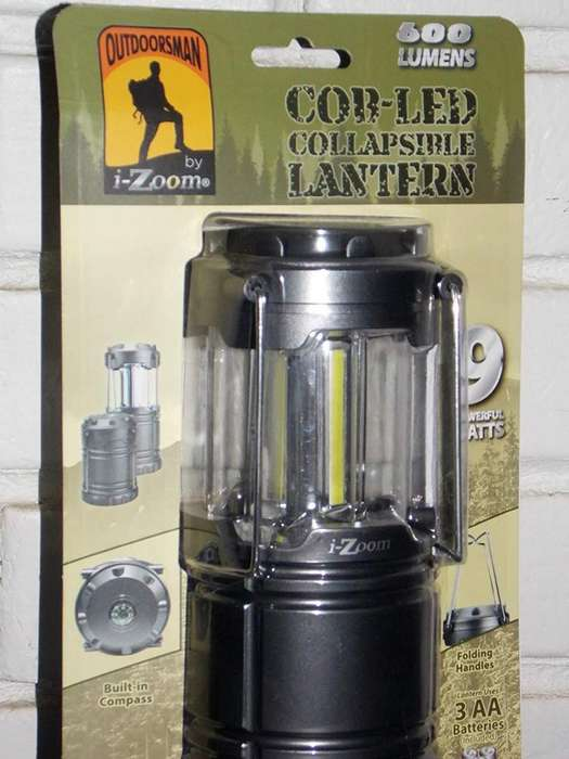 Outdoorsman por I-Zoom 600 LM COB LED Linterna plegable-Gris