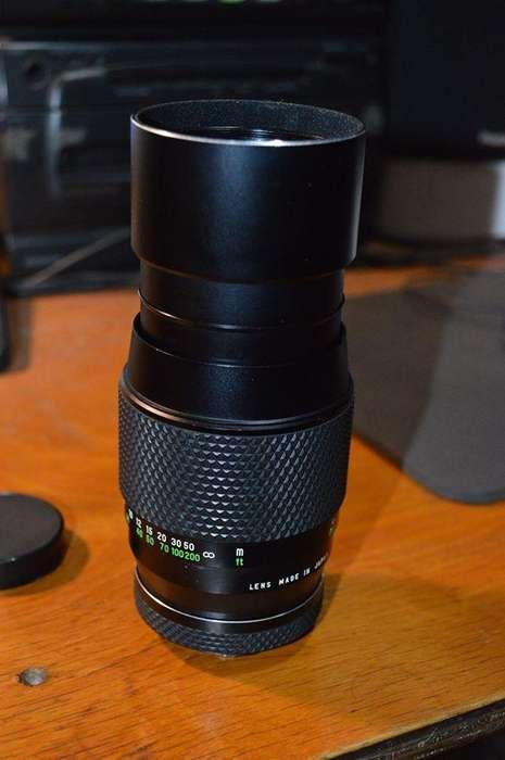 Lente teleobjetivo Voigtlander 200 mm. Permuto