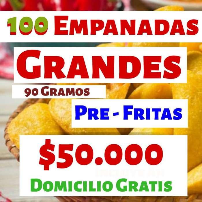 100 Empanadas Grandes Pre Fritas
