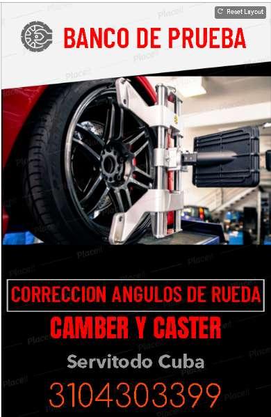 SE NECESITA ALINEADOR CON CONOCIMIENTOS EN CAMBER Y CASTER
