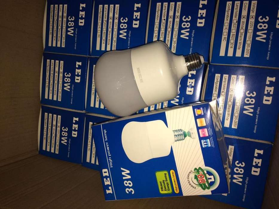 FOCOS LED 38w ahorra Luz blanca / 1 año de garantia/precios x mayor y menor
