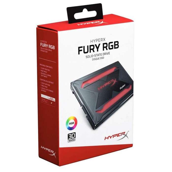 SDD 240GB HYPERX FURY RBG, Unidad de estado solido