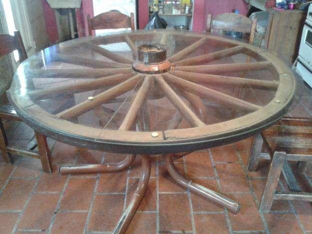 <strong>mesa</strong> Rueda de Carro con Vidrio. 160 Mts