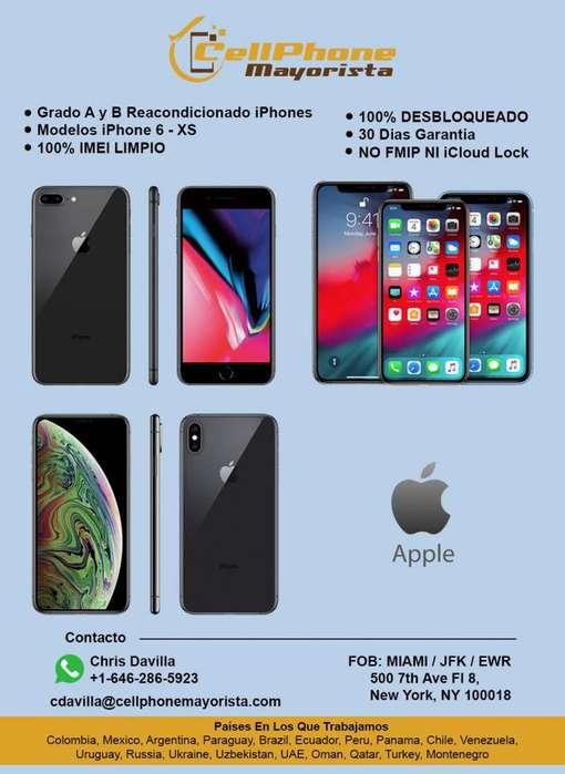Samsung y iPhone AL POR MAYOR DISTRIBUIDOR - FOB MIAMI 100% DESBLOQUEADO 100% IMEI LIMPIO MINIMA CANTIDAD 50 UNIDADES