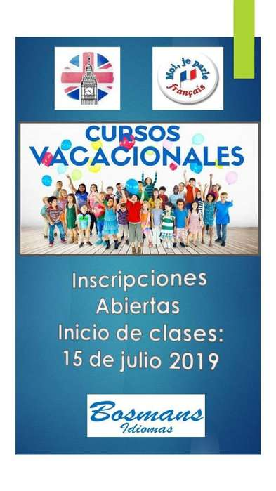 Cursos vacacionales de Inglés y/o francés 2019