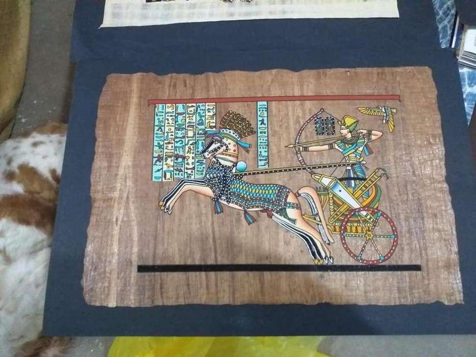 Pinturas egipcias en papiro